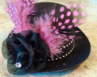 Photo prop, baby bows, baby headband, mini top hat, mini top hat fascinator, mini top hat headband, baby photo prop, baby top hat, hat