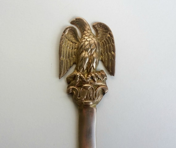 eagle letter opener solid brass home office early american bald eagle federal eagle bicentennial 1960s 1970s home office early