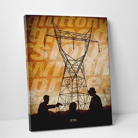 se7en poster alternative poster version1 filmklassiker canvas. Black Bedroom Furniture Sets. Home Design Ideas
