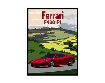 Giclee Print: Ferrari in Tuscany