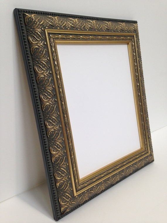 black and gold ornate picture frame 8x10 textured picture. Black Bedroom Furniture Sets. Home Design Ideas