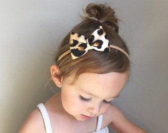 Classic Leopard Baby Bow - Bow Headband