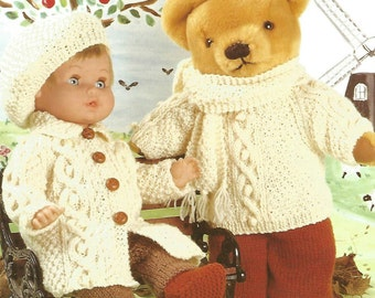 Dolls Knitting Pattern Teddy knitting pattern dolls clothes dolls patterns do...
