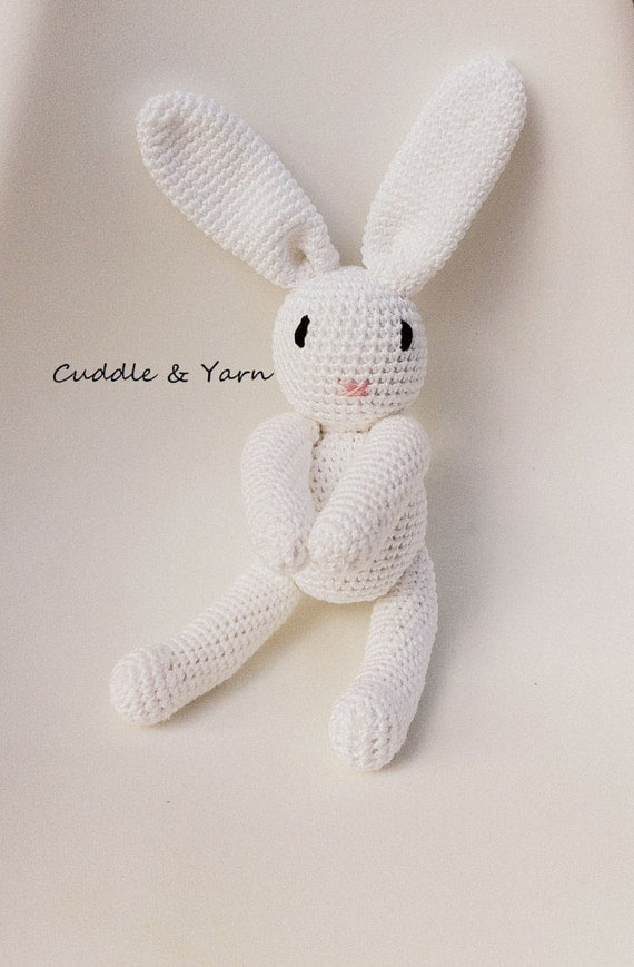 Crochet baby bunny easter gift newborn prop eco baby like this item negle Choice Image