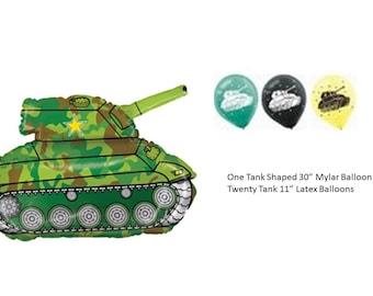 Army Tank Balloon Set