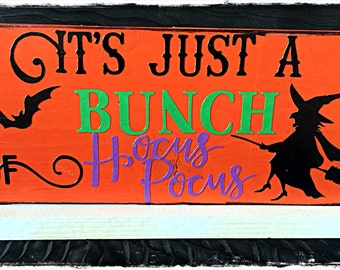 Halloween Wood Block Sign!