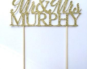 Mr & Mrs Cake Topper  l  Personalized Mr Mrs Wedding Cake Topper  l  Wedding Cake Topper  l  Personalized Wedding Cake Topper