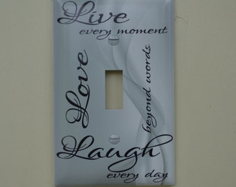 Live Love Laugh Switch Cover