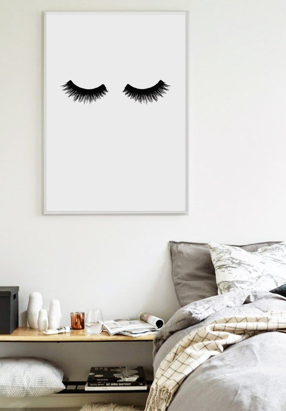 Lashes Scandinavian Print Bedroom Print Home Poster