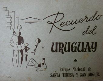 Vintage Uruguayan Postcards.Uruguay.Ephemera.Memorabilia.Collectible.Vintage Uruguayan souvenir.South America Travel souvenir