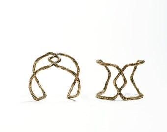 Brass Cuff Bracelet Chunky Cuff Large Cuff Bracelet Gold Cuff Statement Jewelry Natural Twig Oversized Cuff Bracelet Geometric Jewelry