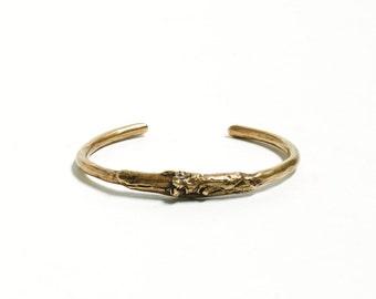 Brass Cuff Bracelet Gold Bracelet Twig Cuff Tree Natural Bracelet Skinny Cuff Adjustable Bracelet