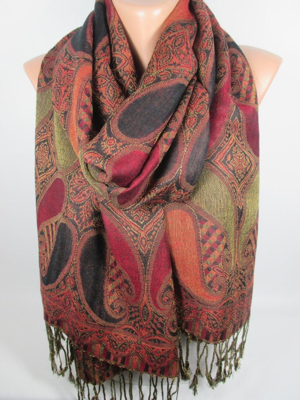pashmina scarf shawl brown pashmina oversized scarf large