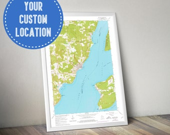 Map Art | Custom Topographic Map | Personalized Map | Custom Wall Hanging | Travel Map