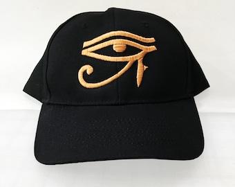 Eye of Horus Eqyptian Embroidered Edgy Baseball Cap