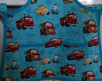 Boys Toddler Apron Cars Apron Disney Cars Apron Boys Apron