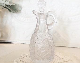 Imperial Pressed Glass Cruet