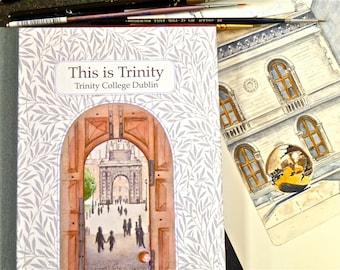 Ireland Book, Watercolours Book, Irish Birthday Gift, Dedicated Gift, Made in Ireland, Trinity College Dublin