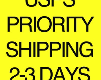 USPS express shipping. (Only U.S. Orders)