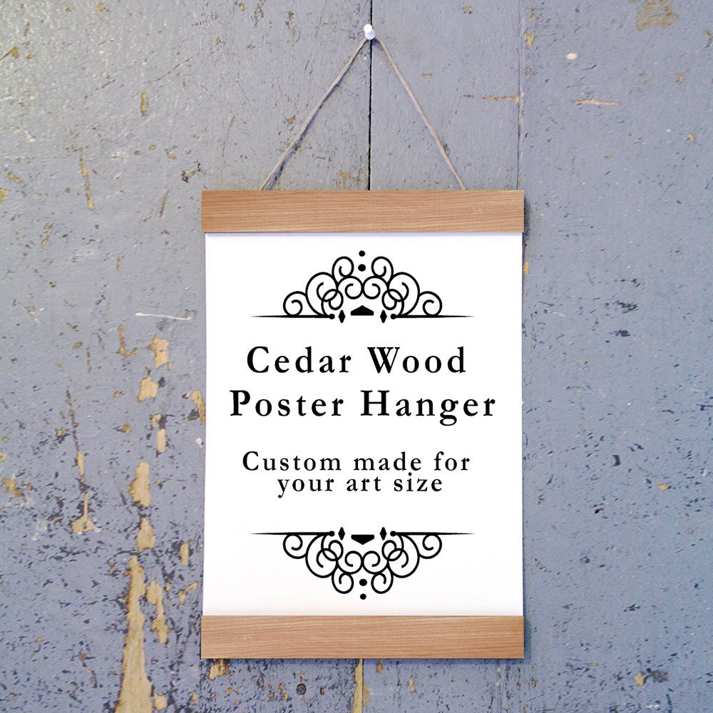 cedar wood poster hanger art hanger poster frame picture hanger natural cedar wood handmade frame