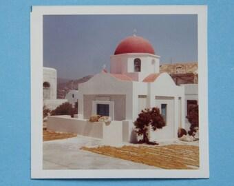 Draw Polaroid / Snapshot / Vintage Photo / landscape Greece