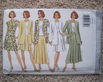 UNCUT Misses Jacket, Top, Skirt and Shorts - Butterick 4506