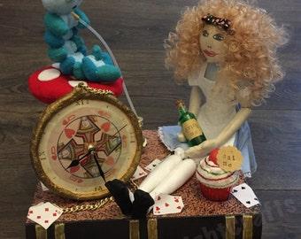 Alice in wonderland inspired clock