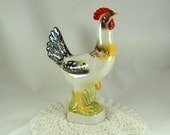 Filomena the Hen - Corked Decanter -  Iridescent Colors - Banty Chicken -1969 Cesare - Bottles Beautiful - Italy - RARE