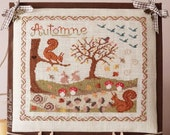 "PDF Cross stitch chart ""Chemin d'Automne"" (or ""Autumn Path"")"