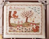 "PDF Cross stitch chart ""Chemin d'Automne"" (or ""Autumn Path"")"
