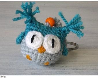 Amigurumi Keychain Loop : Purple Keychain Amigurumi Owl Lover Gifts Cute by Etilinki ...