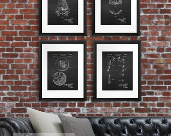 Gift for men, Mercury Space Program Wall Decor Patents Wall art set of 4 Space Capsule poster prints, boys bedroom decor, NASA decor