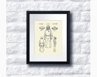 Star Wars Admiral Akbar Patent Art Print Star Wars Sci-Fi Movie, Star Wars Home Decor,  Star Wars Print #19