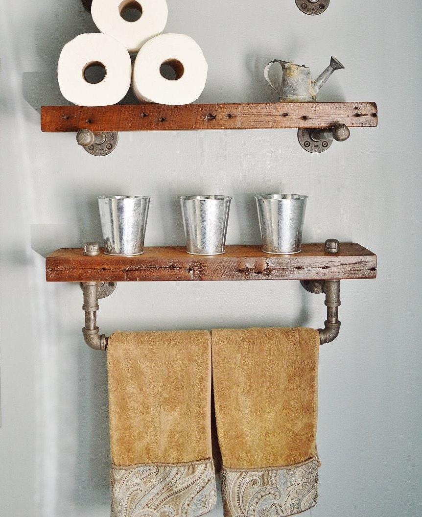 Awesome Reclaimed Barn Wood Bathroom Shelves