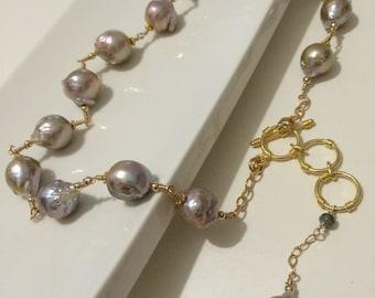 Baroque Pearl Necklace. EN27