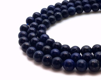 6mm Natural Lapis Lazuli Beads 6mm Lapis Lazuli 6mm Lapis Beads 6mm Round Lapis 6mm Natural Lapis Blue Gemstone Beads Genuine Lapis Beads