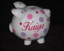Piggy Q's Personalized Piggy Banks