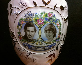 1981 Royal Wedding Commemorative Chalice Charles & Diana 29th July ~ Keystone Made in England
