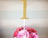 """Large glitter number cake topper - wedding table centrepieces - cake smash props - 1st birthday - giant 4 inch (4"""") - gold, pink, 2, 3, 4, 5"""
