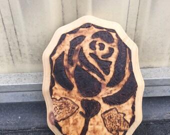 Wood Burn Rose