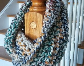 Infinity, Scarf, Chunky, Crochet, Infinity Scarf, Bulky Scarf, Circular Scarf