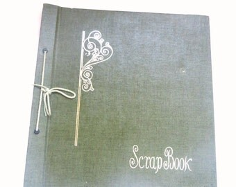 Vintage Dark Green Scrapbook - Unused - Scrapbooking - 1960's - Deadstock