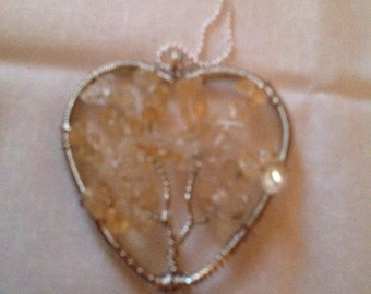 Tree of life heart shaped pendant