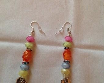 bow dangle earrings