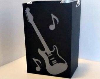 Set of 6 Guitar Party Bag, Rockstar Party Bag, Rock Star Party Bag, Rock Star Party Favor, Rockstar Party Favor, Guitar Party Favor, Music