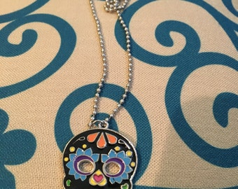 Day of the Dead Necklace, Sugar Skull Necklace