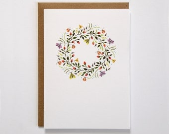 Spring Wreath Blank Card
