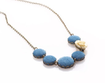 Fabric Jeans Necklace