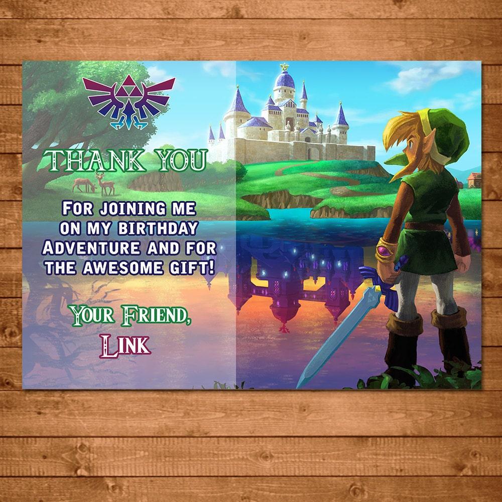 Legend Of Zelda Thank You Card Link Zelda Thank You Card
