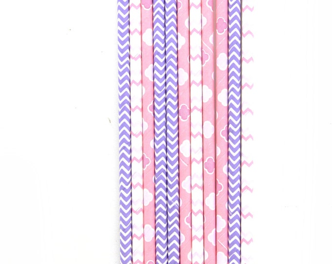 Sweet Nothings Straw, Decorative Straw, Pink and Gold Baby, Purple Pink Straw, Baby Shower, Pink Gold Wedding, Dreamy Party Decor
